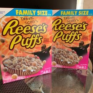 Travis Scott Reeses puff cereal